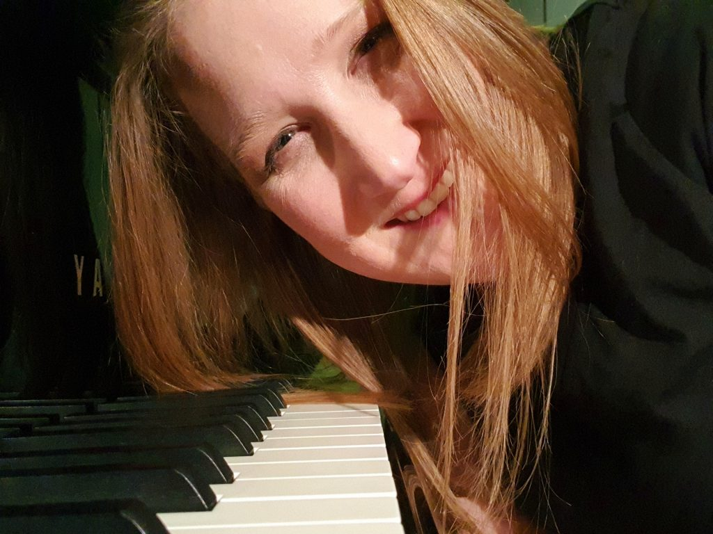 Emma at the piano
